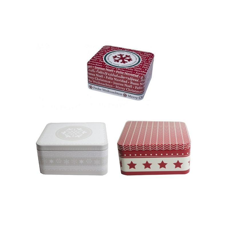 boite biscuits de no l en fer blanc moyenne boite rectangulaire no l. Black Bedroom Furniture Sets. Home Design Ideas