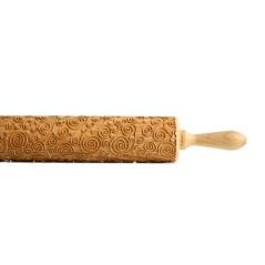 Rouleau à Pâtisserie Gravé en Bois Forme Spirale