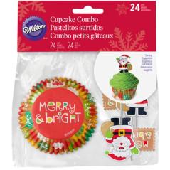 Caissettes à Muffins Décor Père Noël