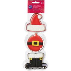 Emporte-pièces Père Noël (Lot de 3)