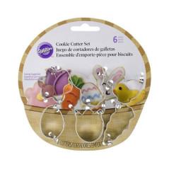 Mini Emporte-pièces de Pâques (Lot de 6)