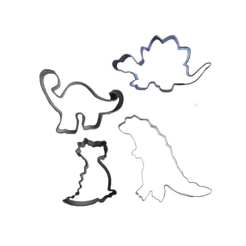 Lot de 4 Emporte-pièces Dinosaures