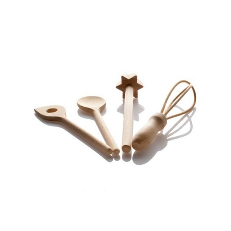 kit p tisserie enfant en bois ustensile de p tisserie en bois. Black Bedroom Furniture Sets. Home Design Ideas