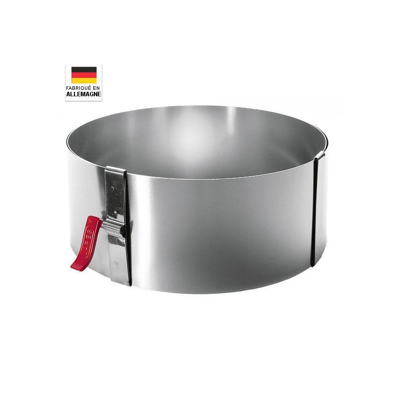 Cercle à pâtisserie avec levier de serrage hauteur 10 cm