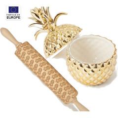 Rouleau Gravé Motif Ananas