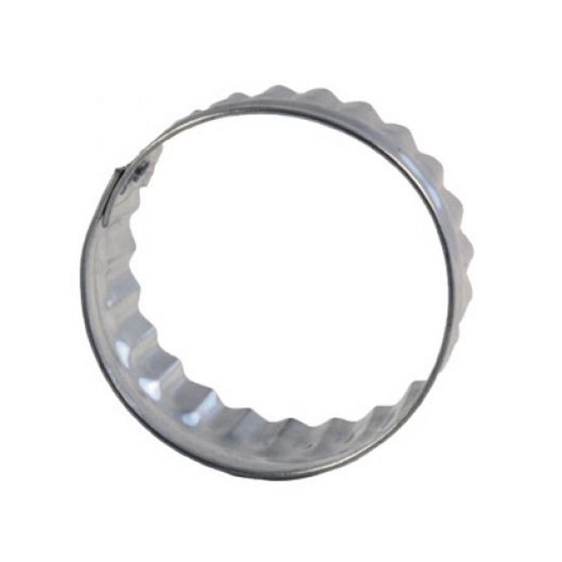 d coupoir rond ondul 4 5cm emporte pi ce cercle ondul en fer blanc. Black Bedroom Furniture Sets. Home Design Ideas