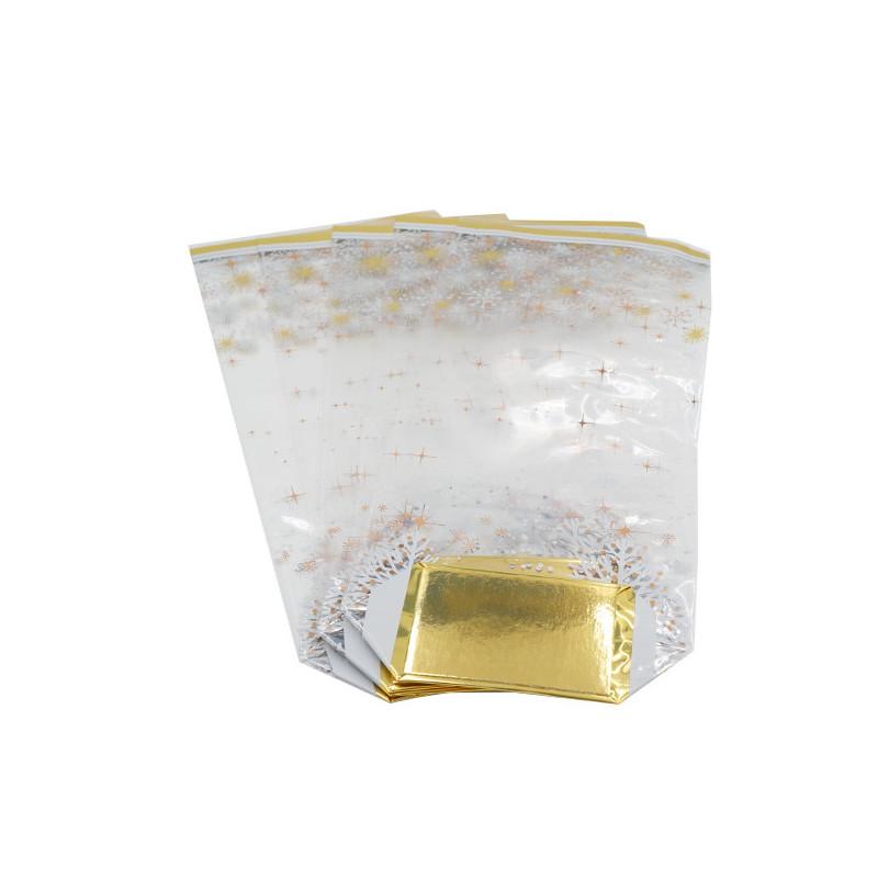 5 Sachets décor Flocons métallisés