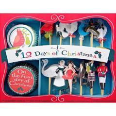 Assortiment Caissettes et décors Cupcakes Comptine de Noël