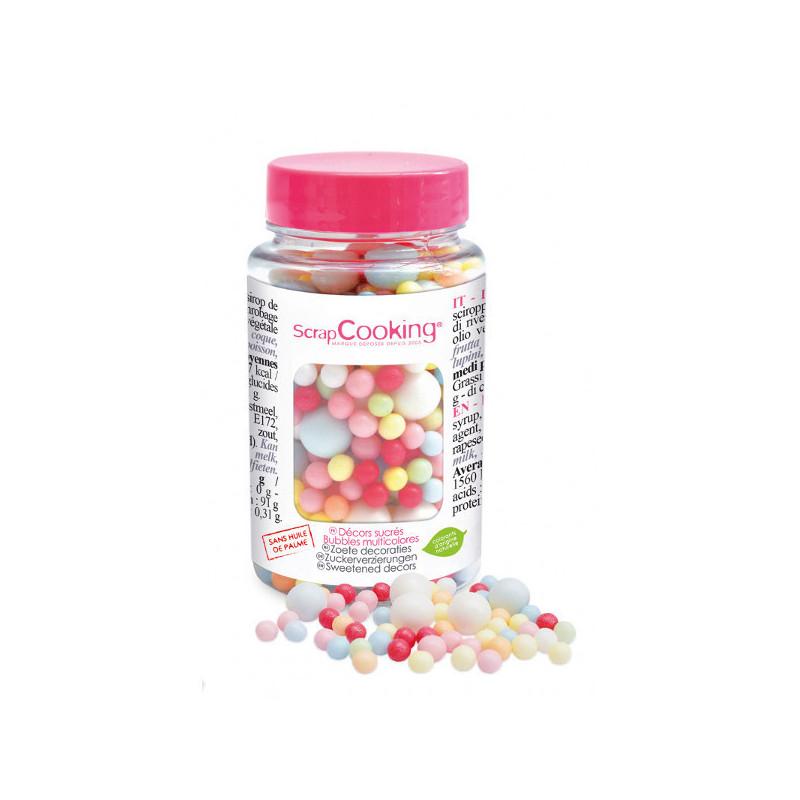 Décors Bubble Multicolores en Sucre