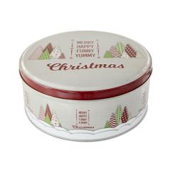 Boite à biscuits de Noël ronde moyenne