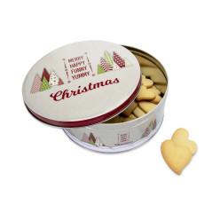 Boite à biscuits de Noël ronde grande
