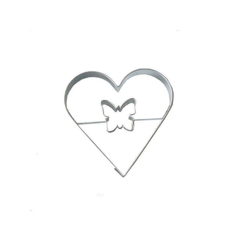 Emporte-pièce Coeur avec Papillon