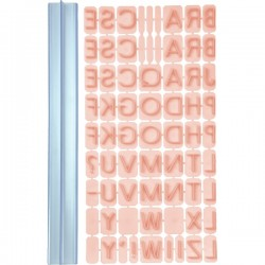 Empreintes Alphabet pour décoration
