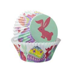 Caissettes à Muffins Oeufs et Lapins de Pâques