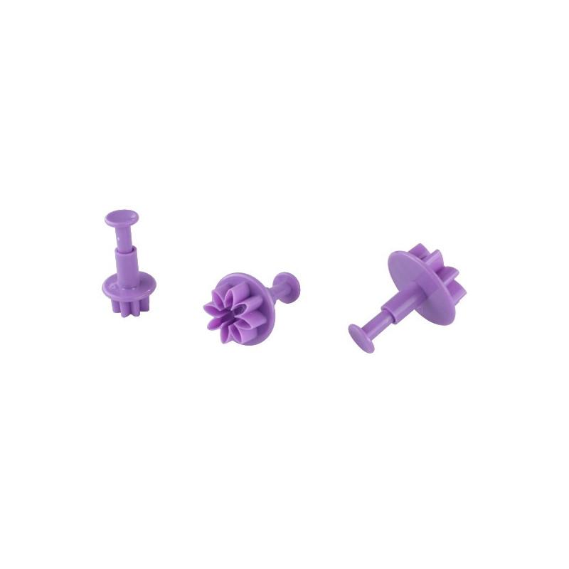 3 Emporte-pièces Poussoir Fleurs