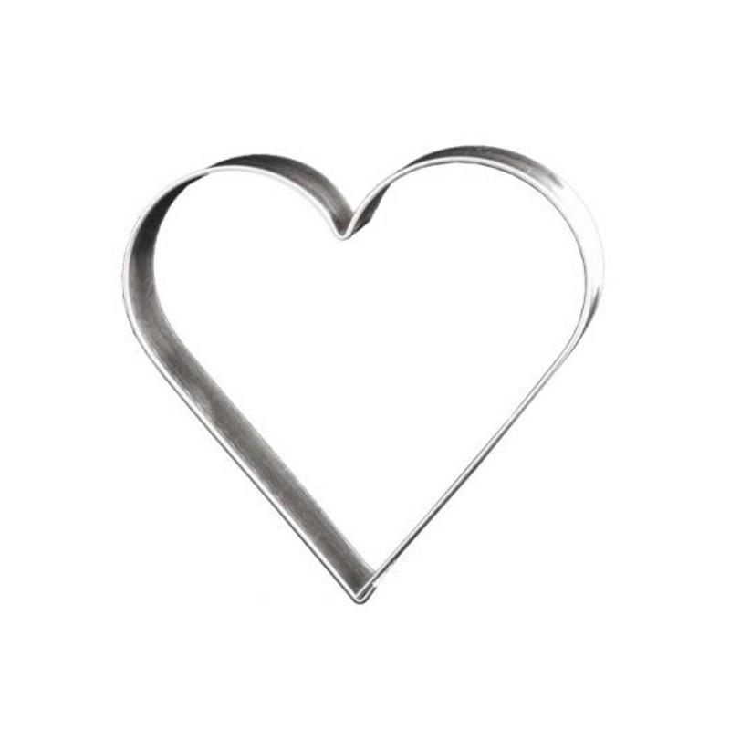 découpoir coeur 12 cm - emporte-pièce coeur en fer blanc