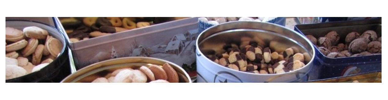 Boites en fer blanc pour petits biscuits et cookies