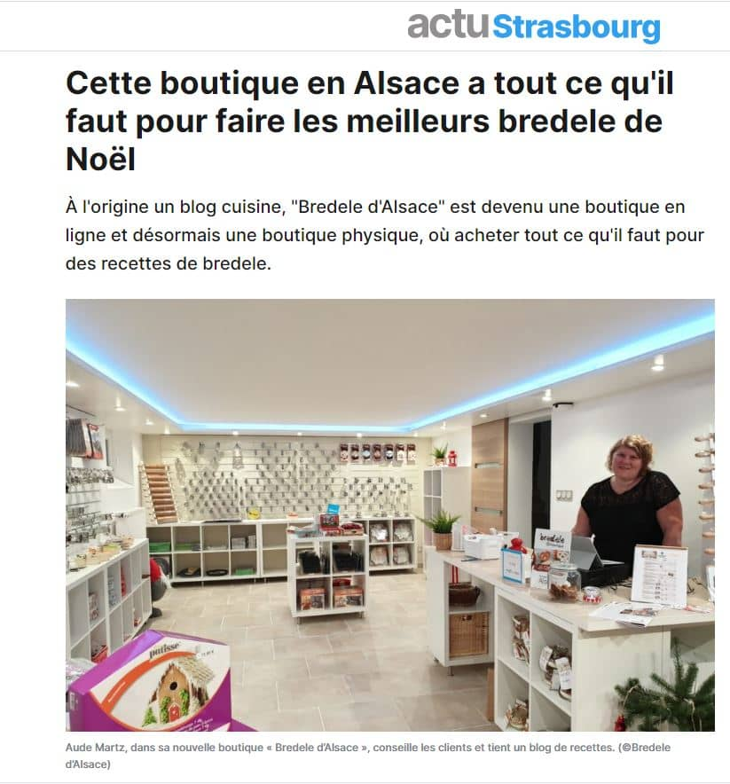 article actu strasbourg bredele boutique