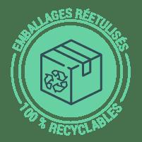 emballages réetulisés et recyclables